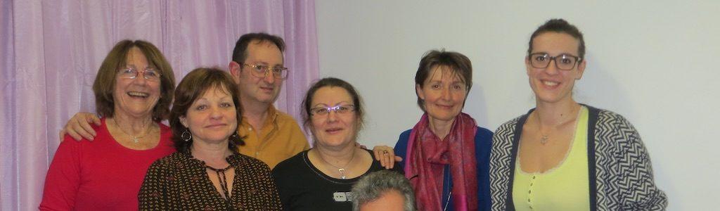 Quelques membres de l'association lors de la formation aux 40 heures en ETP organisée début 2016.